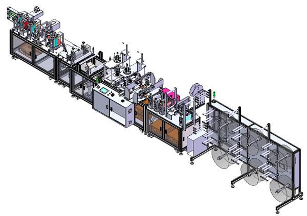KN95口罩生产线