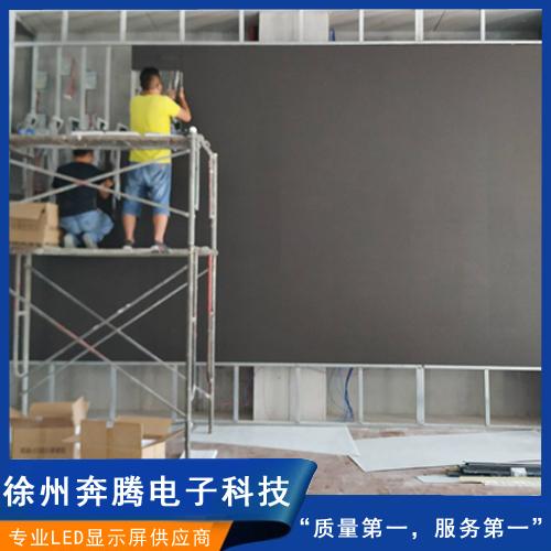 LED显示屏施工中