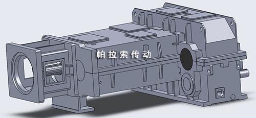 新型同向锥形双螺杆减速机