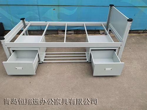 带柜钢制单人床