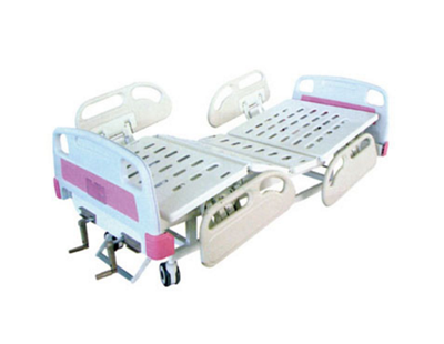 JDMT-860202 手动双摇护理床(中控制动轮)
