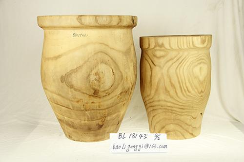 木制花盆花瓶
