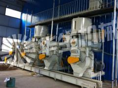 国内某客户4台420机组--时产4-6吨秸秆颗粒机生产线
