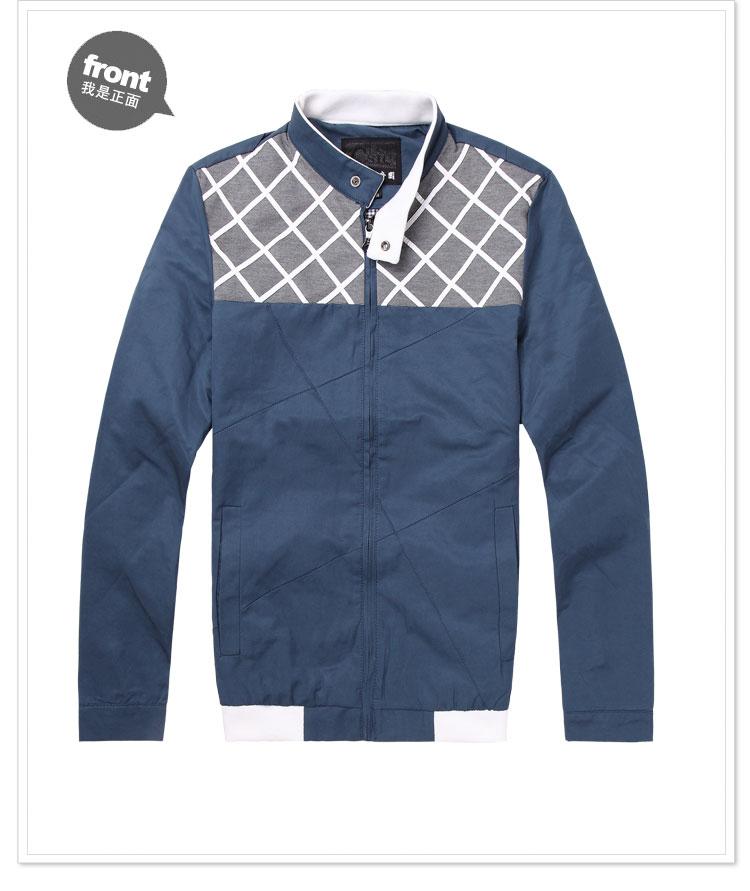 新款男装 韩版修身时尚夹克外套