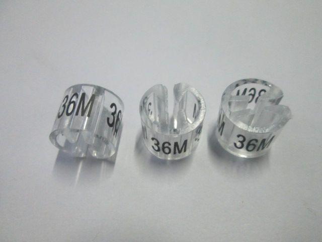 圓形尺碼/透明尺碼/尺碼圈/尺碼粒/尺碼環/尺碼夾/尺碼扣/分碼粒