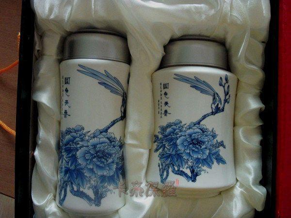 青花?#21830;?#35013; 青花瓷保温杯 青花瓷茶叶罐