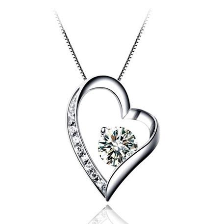 珠寶加工 心形飾品 925銀明星吊墜