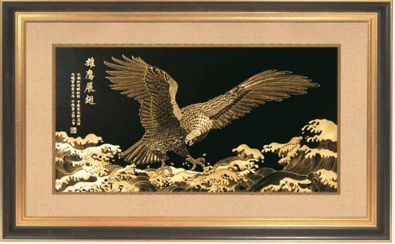 金雕画工艺品手工雕刻精品商务礼品装饰画