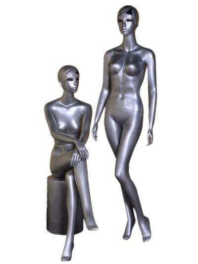 金婭模特廠 銀色模特兒 無頭女模特 無頭人體模特 服裝假人模特