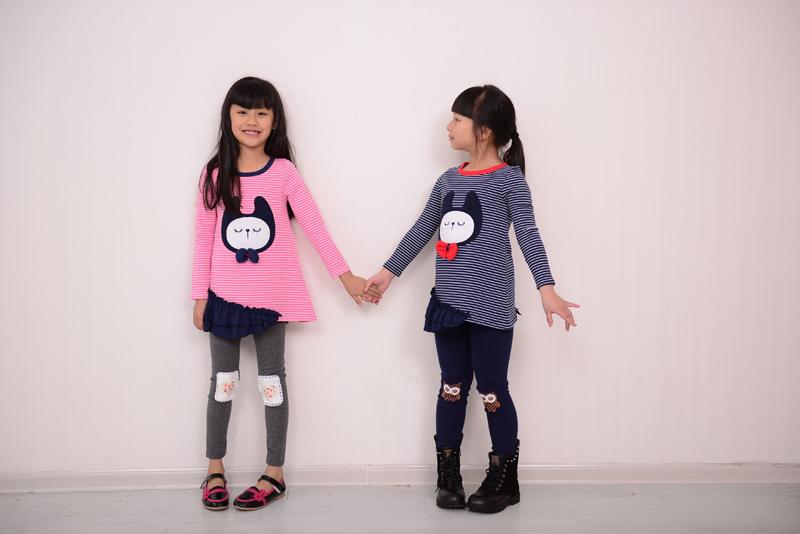 外貿童裝 咪呢皮特2014年新春款韓版女童連衣裙 純棉拼接童裙批發
