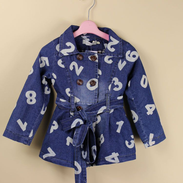 廣州童裝批發廠家直銷秋裝女童外套 加厚加絨牛仔外套