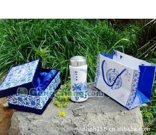 供應廠家自產自銷青花瓷保溫杯青花瓷套裝