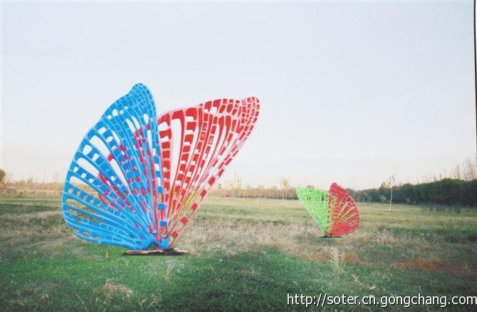 蝴蝶翅膀景观摆件不锈钢雕塑