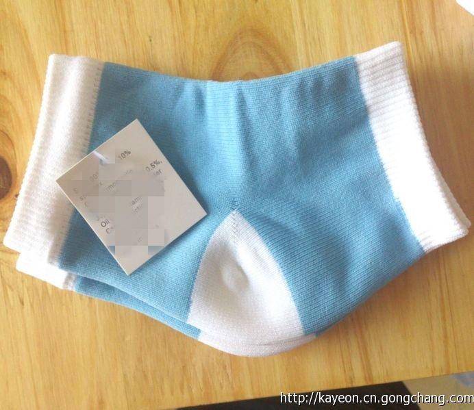 現貨腳部護理凝膠后跟襪外貿原單保濕護跟襪藍白/款gel heel sock