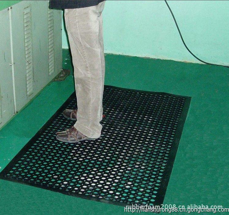 青島廠價銷售操作間地墊,車間防滑墊,帶孔防滑墊,酒店廚房墊