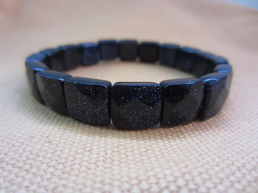 天然藍砂石方形 手鏈飾品
