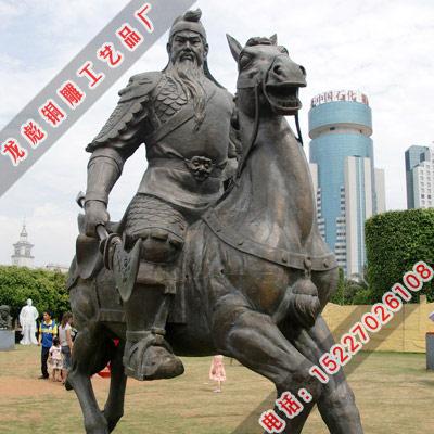 供应关公骑马像铜雕塑