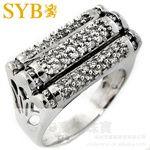 供應SYB高級珠寶 1.15克拉18K黃金鉆石豪華群鑲鉆石男戒