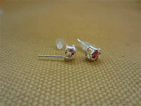 925銀 立方氧化鋯 耳釘