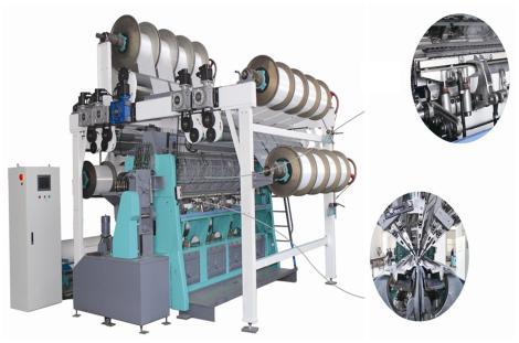 SGE2886型绒类双针床经编机         SGE2886-D型绒类双针床经编机 (电子送经)             SGE2886-D/EL型绒类双针床经编机(电子送经、电子横移)
