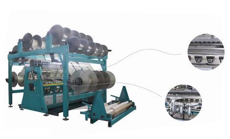 SGE2298D型三维间隔织物双针床经编机 (电子送经)         SGE2298D-EL型三维间隔织物双针床经编机(电子送经、电子横移)