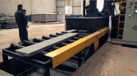 铝模板专用抛丸清理机 - 迪普拓普金属表面处理设备()