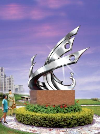 不锈钢雕塑效果图 - 镇江维纳斯雕塑工程有限公司