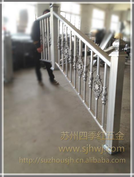 椭圆形欧式玻璃楼梯扶手