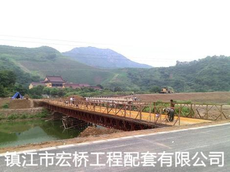 钢桥案例镇江新区捆山河极乐禅寺案例
