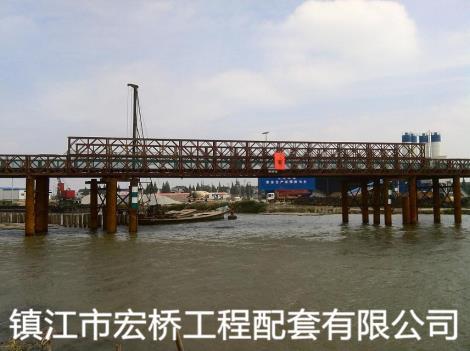 钢桥案例吴江金家坝钢便桥