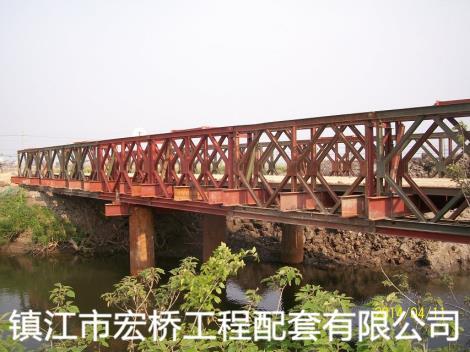 钢桥案例吴江金家坝钢便桥实例