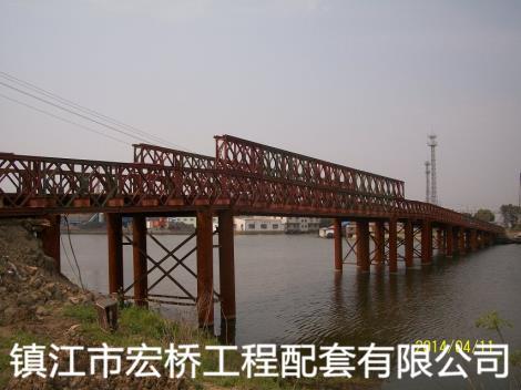 钢桥案例吴江金家坝钢便桥工程案例