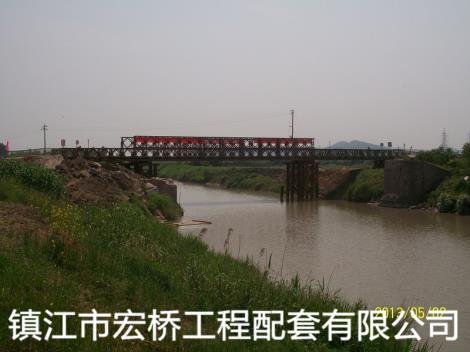 钢桥案例溧阳南渡镇钢便桥