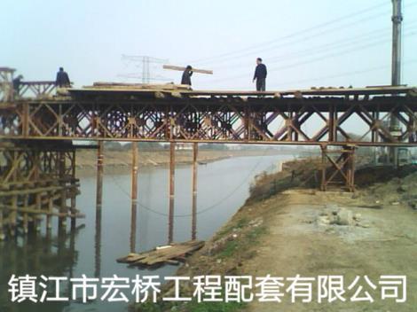钢桥案例无锡团结大道锡沪路工程钢便桥