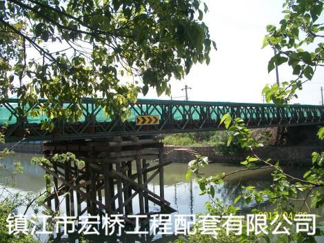 钢桥案例吴江青云钢便桥