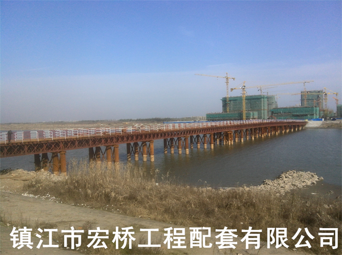 上海长岛8米宽双向钢便桥案例