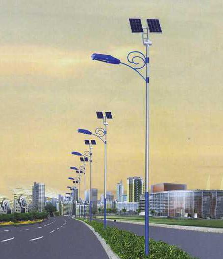 大石橋市 新農村 太陽能燈  東亮科技_燈桿 4米15W
