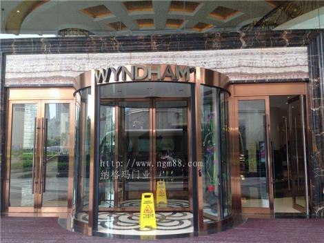 酒店旋转门安装   酒店旋转大门生产制造