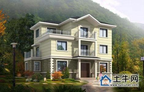 v1004三层带露台农村自建房屋设计图