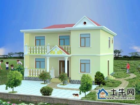 M1004二層帶陽臺小別墅設計圖紙