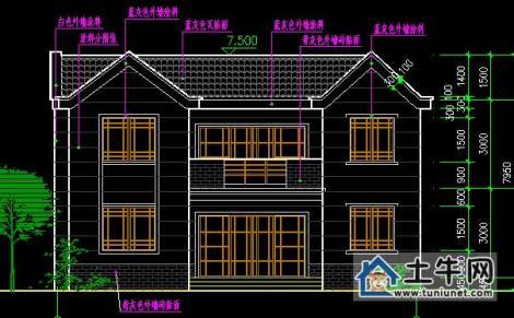 框架结构小别墅设计图纸展示