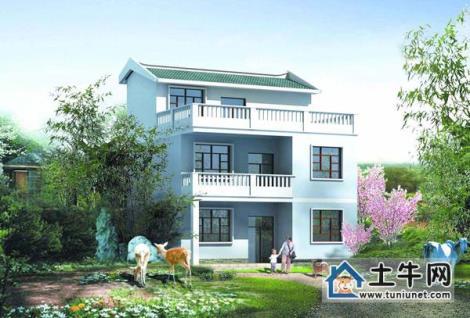 M1007新農村三層帶露臺自建房設計圖紙