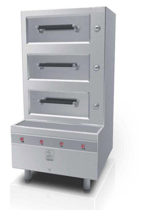 电磁海鲜蒸柜