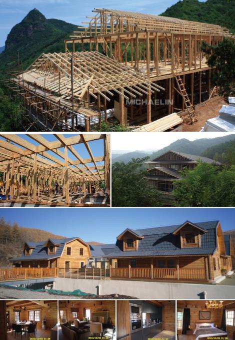 木结构房屋木结构建筑木结构别墅