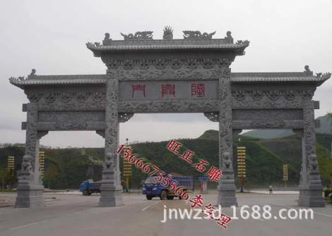 大型古建石雕牌坊图片
