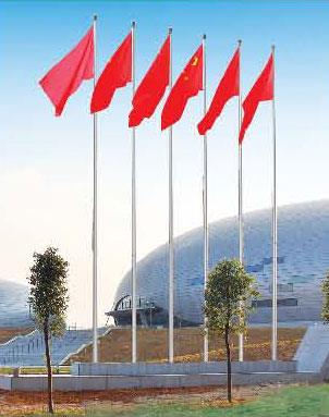 红旗杆多高12米不锈钢旗杆价格 生产厂家