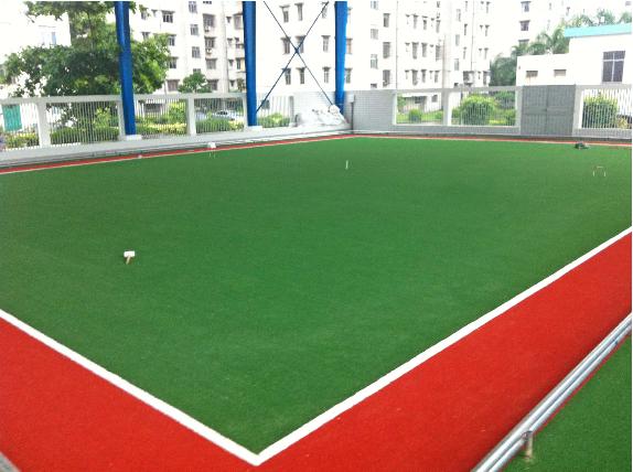 重建人造草坪门球场铺设人造草坪门球场建造宁波华速体育设施放风筝的样式图片