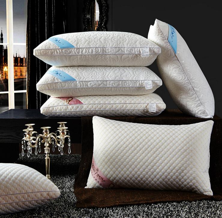 针织棉按摩护颈枕芯