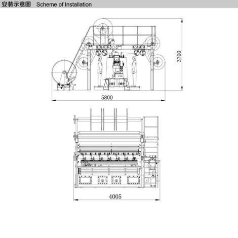 SGE288T-D中绒双针床经编机