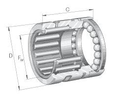 NX-滚针与推力球组合轴承 无罩壳